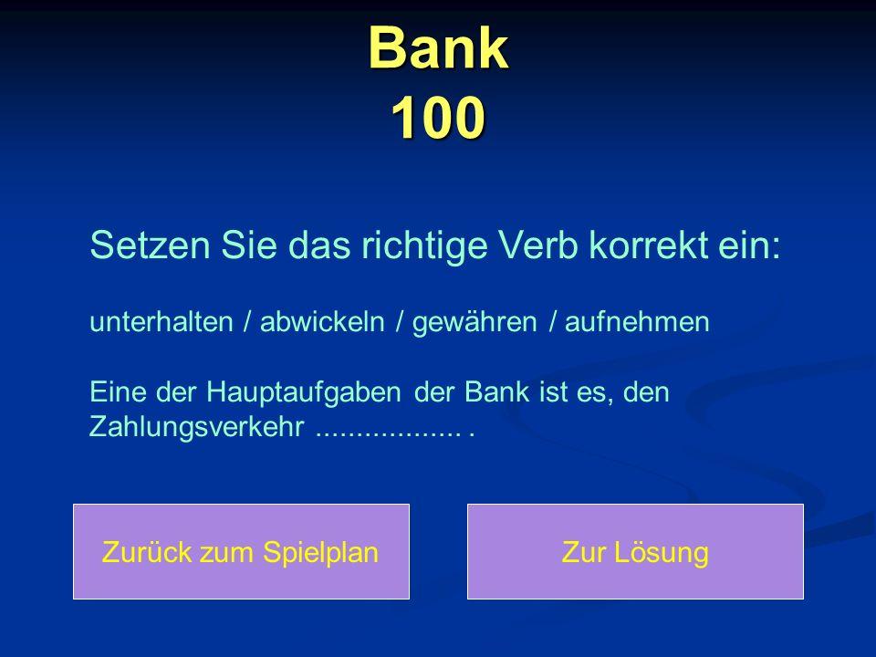 Bank 100