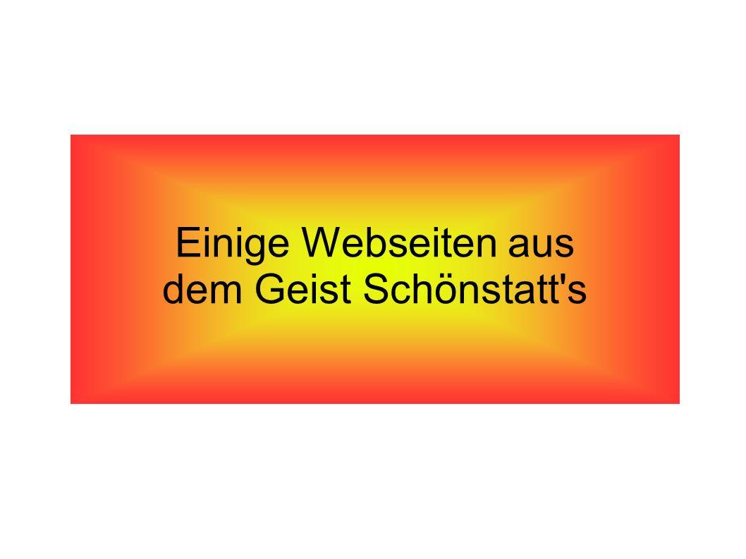 Einige Webseiten aus dem Geist Schönstatt s