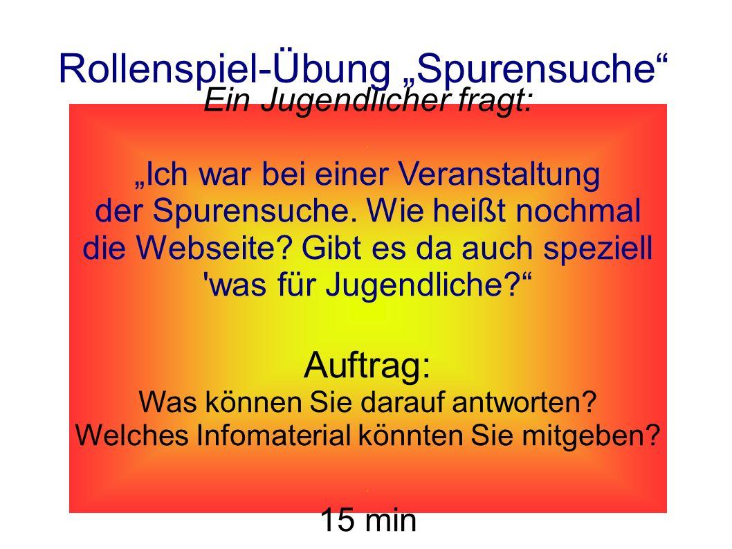 """Rollenspiel-Übung """"Spurensuche"""
