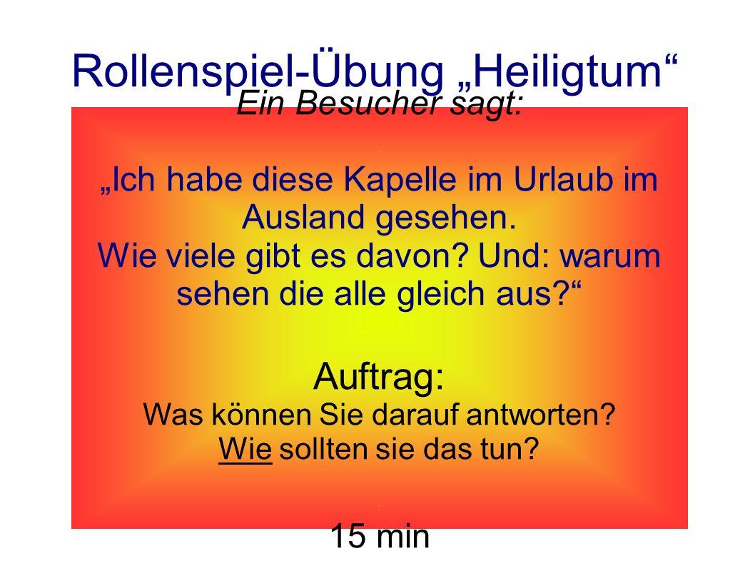 "Rollenspiel-Übung ""Heiligtum"