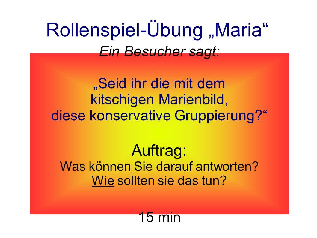 """Rollenspiel-Übung """"Maria"""