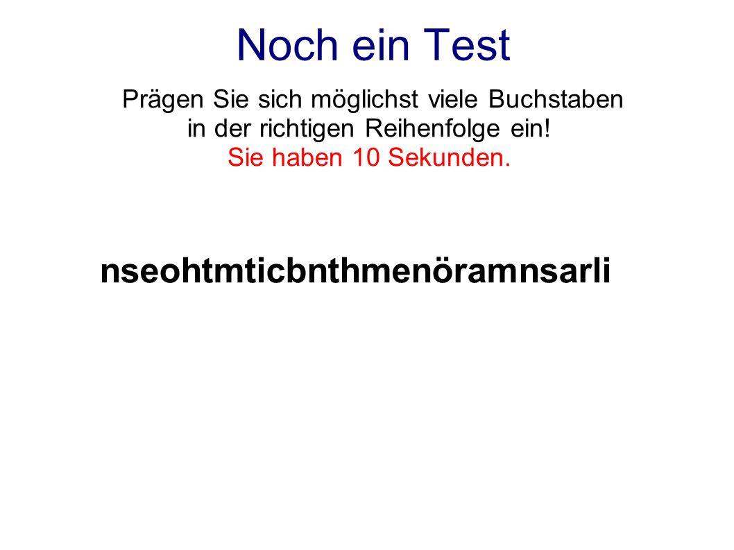Noch ein Test nseohtmticbnthmenöramnsarli