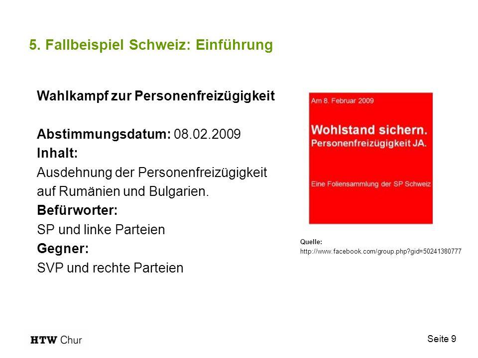 5. Fallbeispiel Schweiz: Einführung