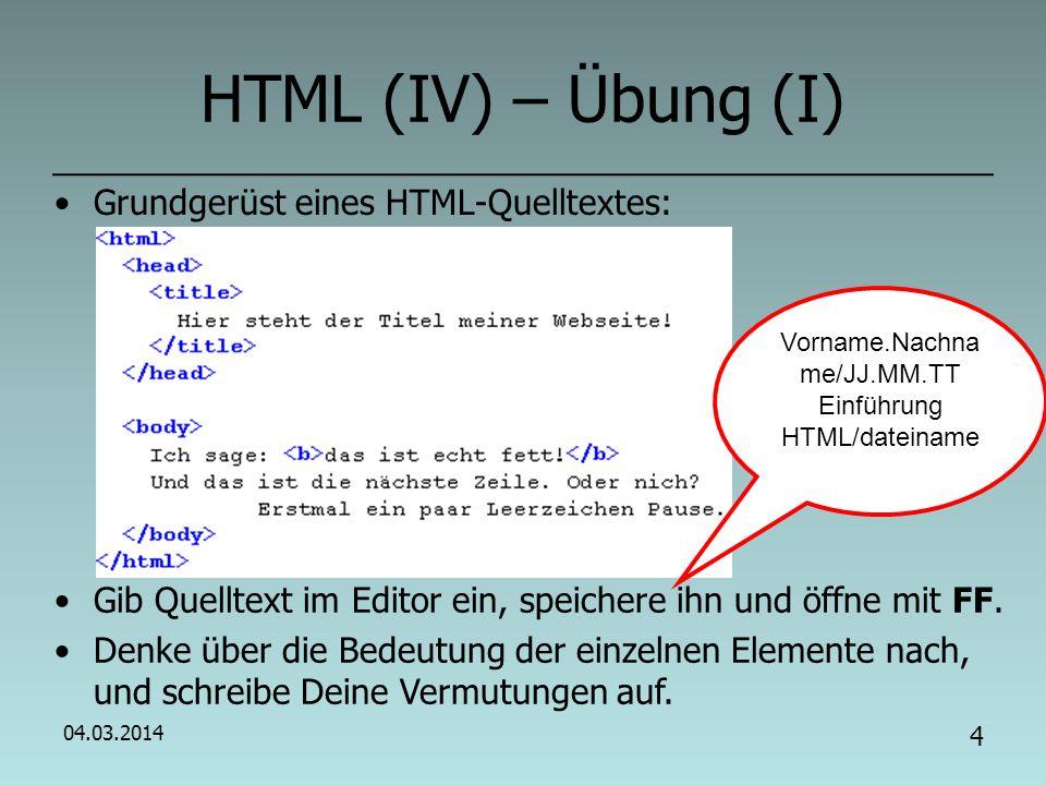Vorname.Nachname/JJ.MM.TT Einführung HTML/dateiname