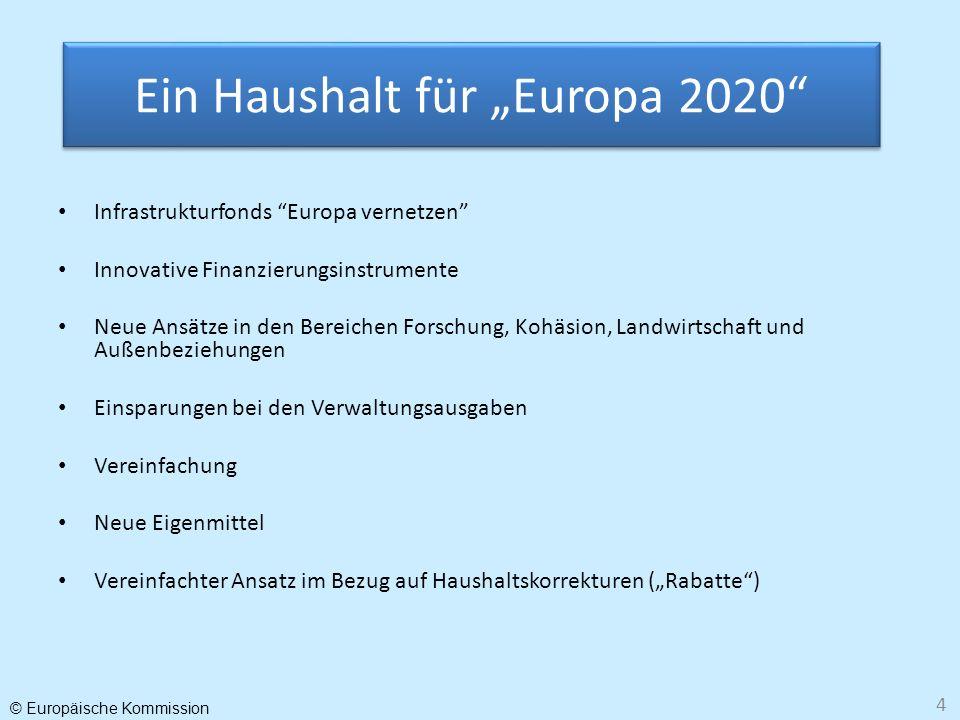 """Ein Haushalt für """"Europa 2020"""