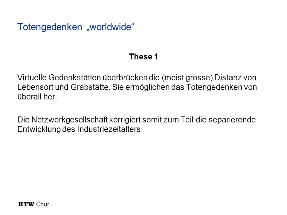 "Totengedenken ""worldwide"