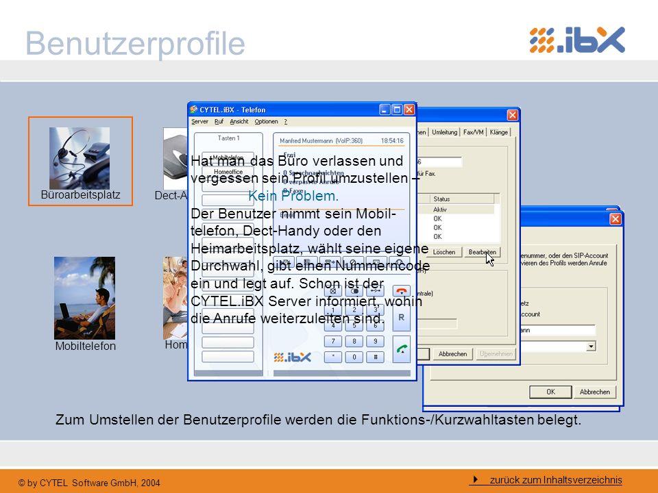 BenutzerprofileHat man das Büro verlassen und vergessen sein Profil umzustellen – Kein Problem.