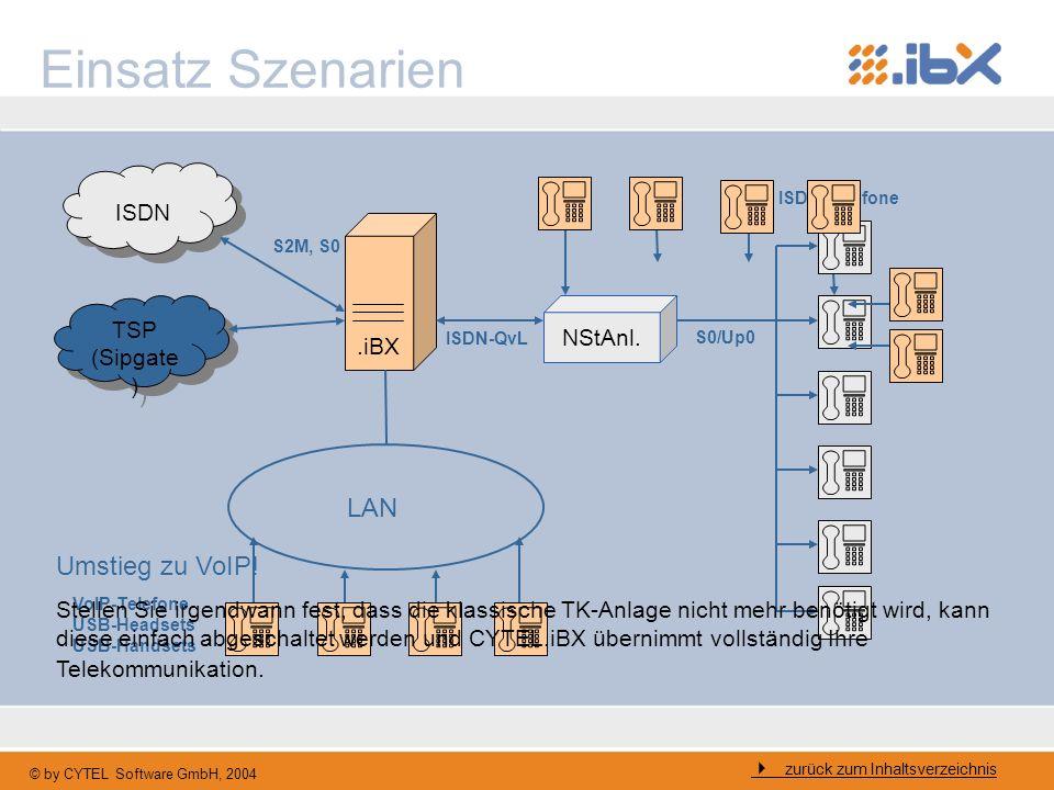 Einsatz Szenarien LAN Umstieg zu VoIP! .iBX TSP (Sipgate) NStAnl.