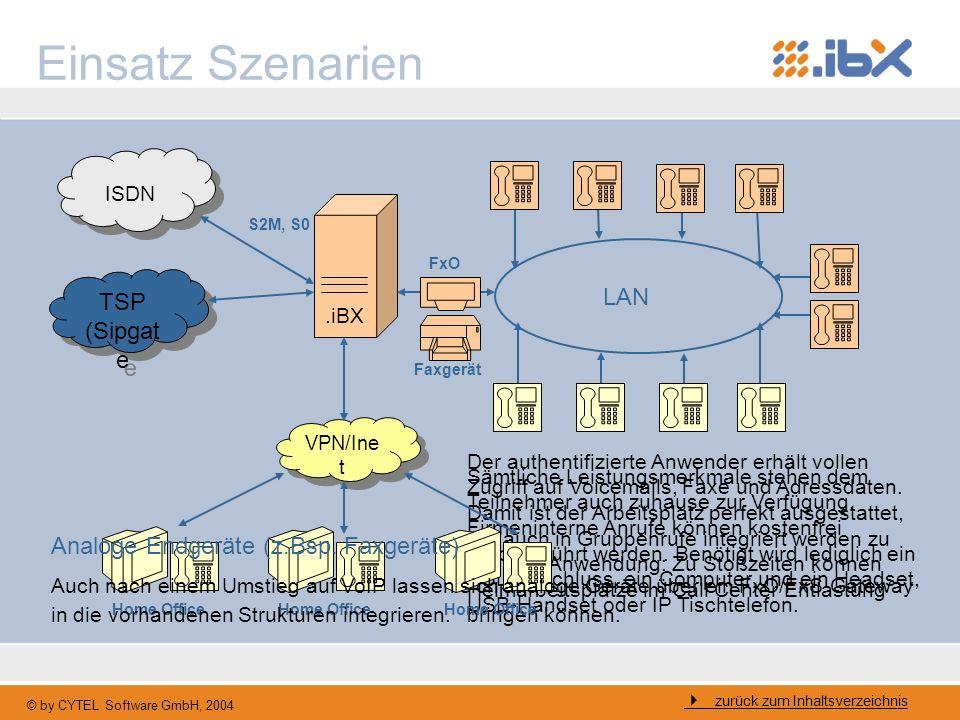 Einsatz Szenarien TSP (Sipgate LAN