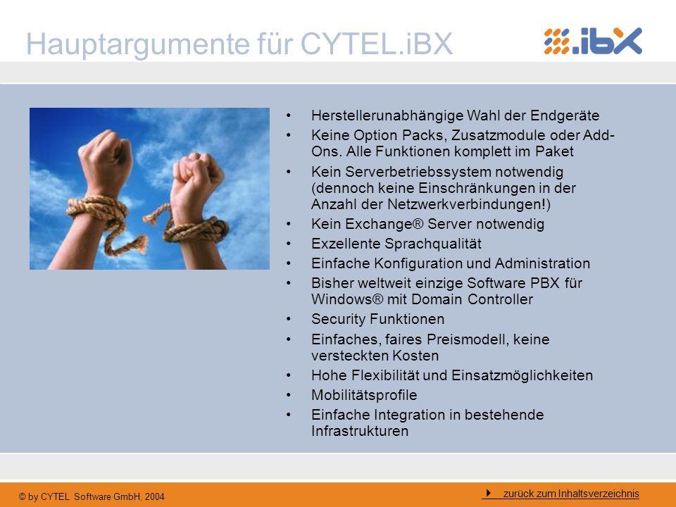 Hauptargumente für CYTEL.iBX