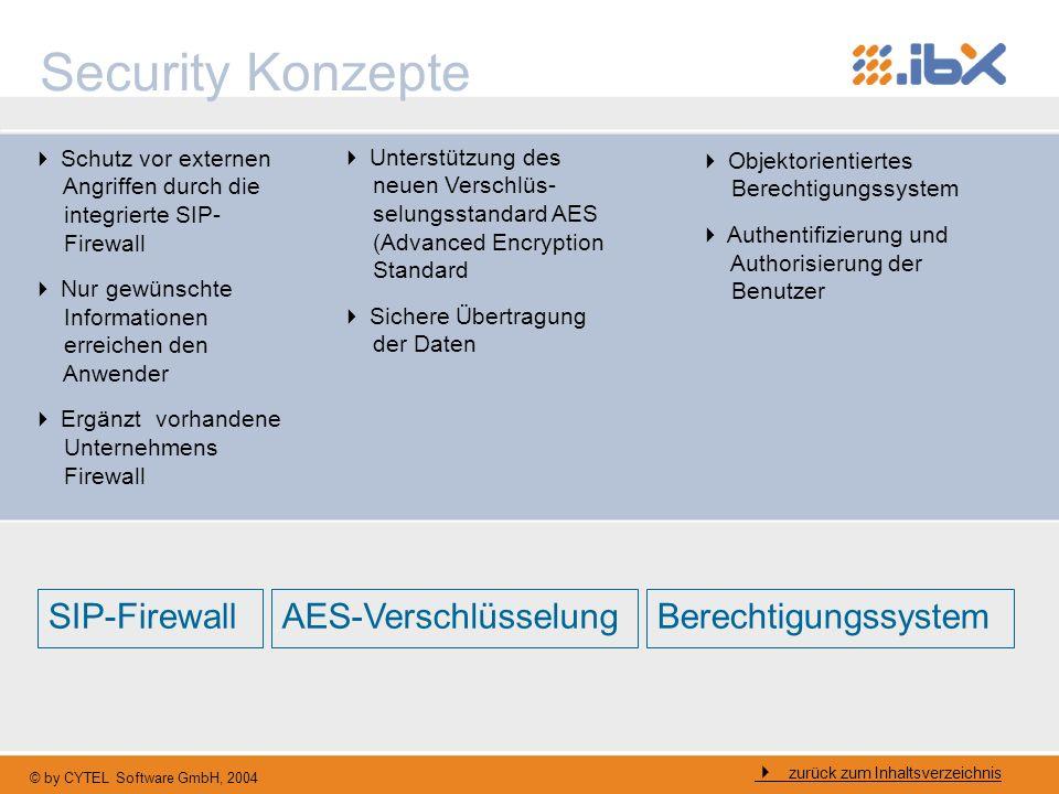 Security Konzepte SIP-Firewall AES-Verschlüsselung Berechtigungssystem
