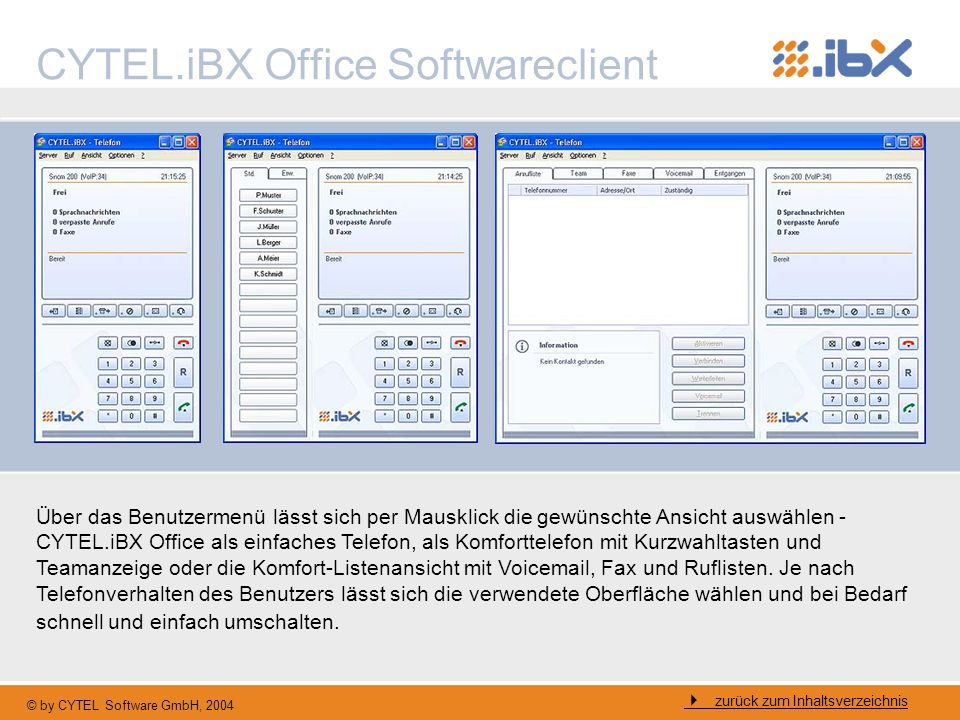 CYTEL.iBX Office Softwareclient