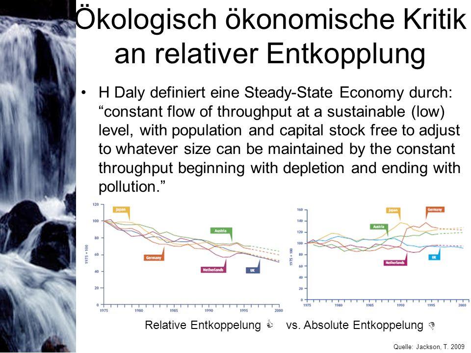 Ökologisch ökonomische Kritik an relativer Entkopplung