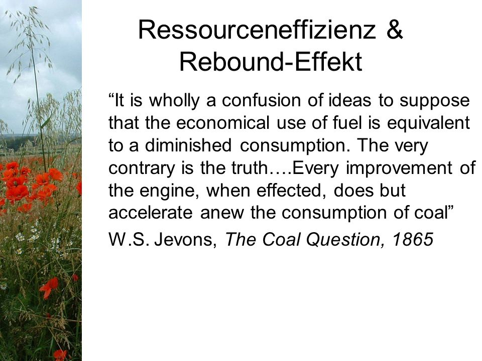 Ressourceneffizienz & Rebound-Effekt