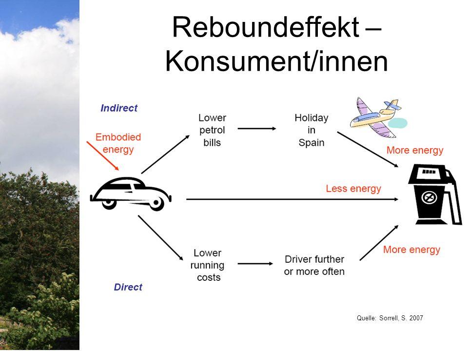Reboundeffekt – Konsument/innen