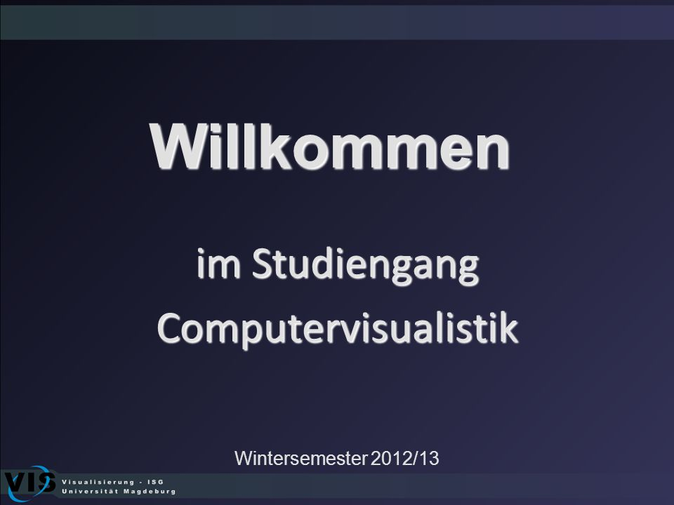 im Studiengang Computervisualistik