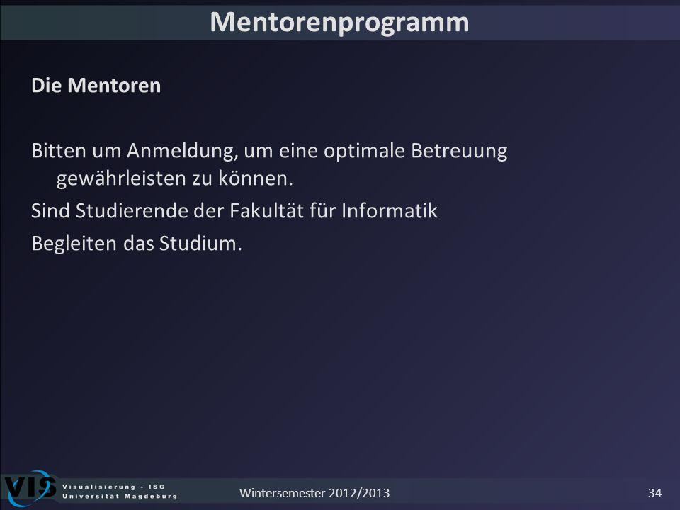 Mentorenprogramm Die Mentoren