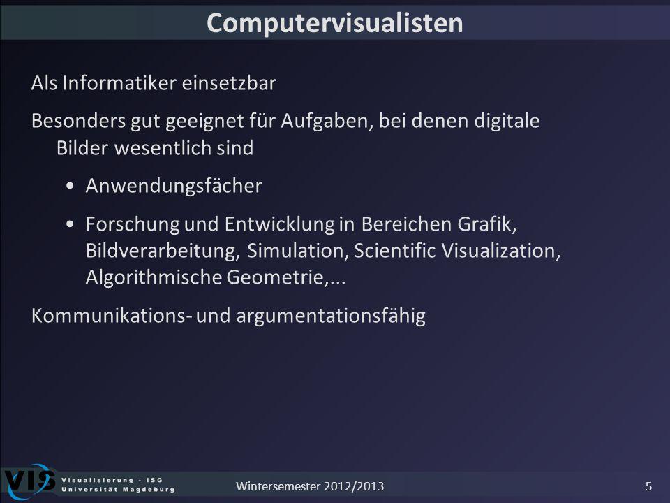 Computervisualisten Als Informatiker einsetzbar