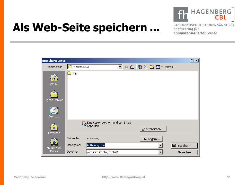 Als Web-Seite speichern ...