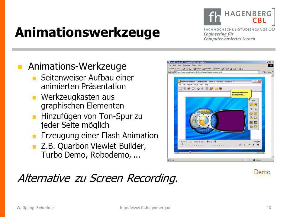 Animationswerkzeuge Alternative zu Screen Recording.