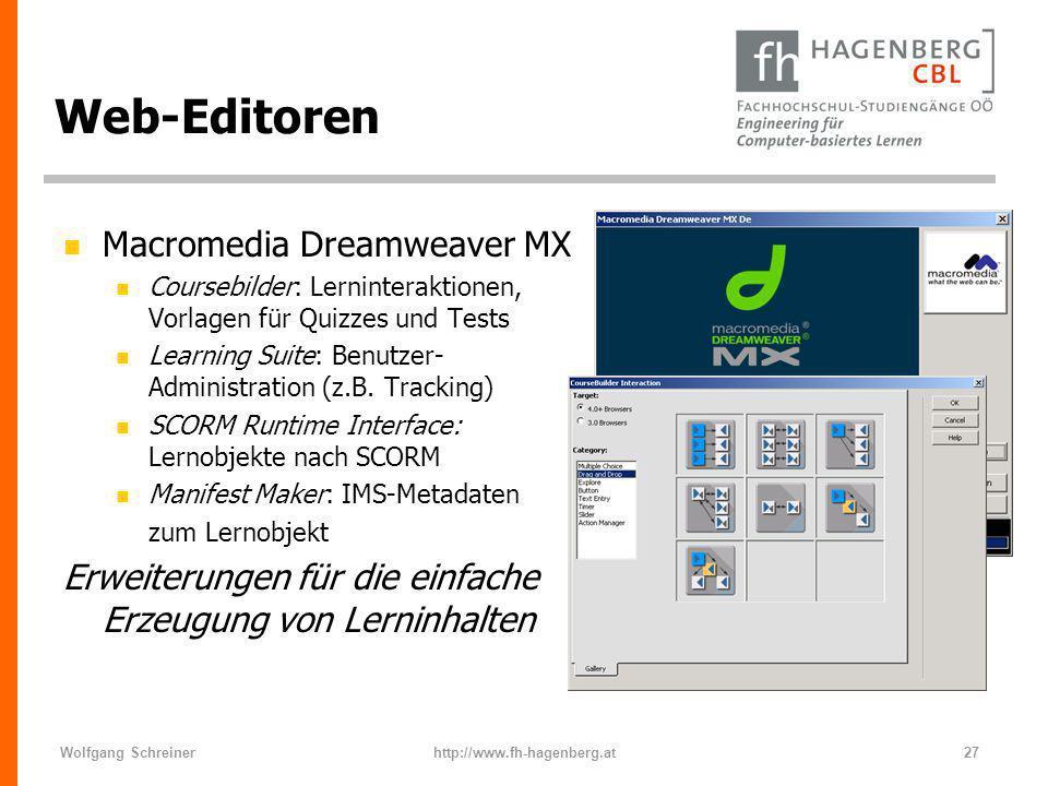 Web-Editoren Macromedia Dreamweaver MX