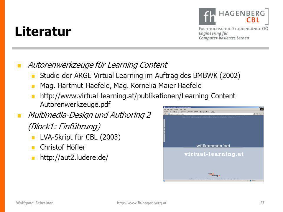 Literatur Autorenwerkzeuge für Learning Content