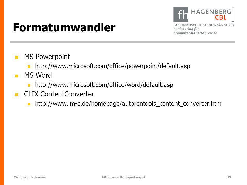 Formatumwandler MS Powerpoint MS Word CLIX ContentConverter