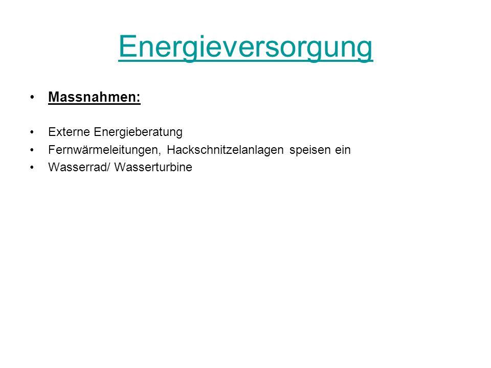 Energieversorgung Massnahmen: Externe Energieberatung