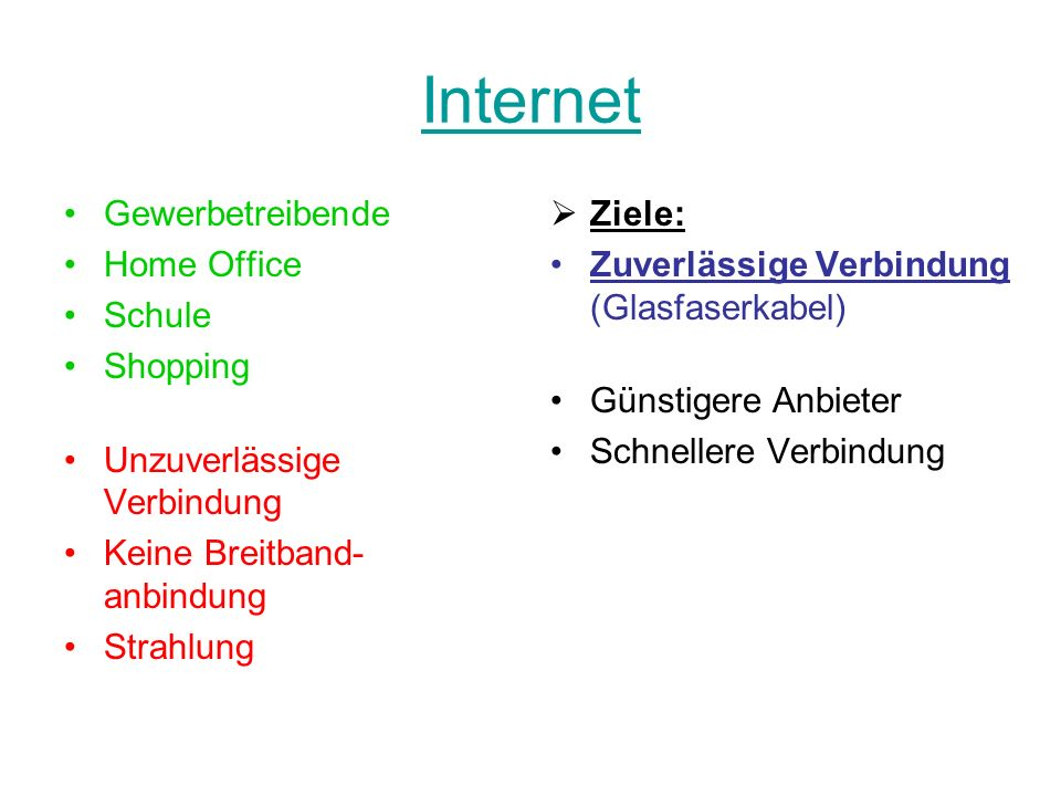 Internet Gewerbetreibende Home Office Schule Shopping