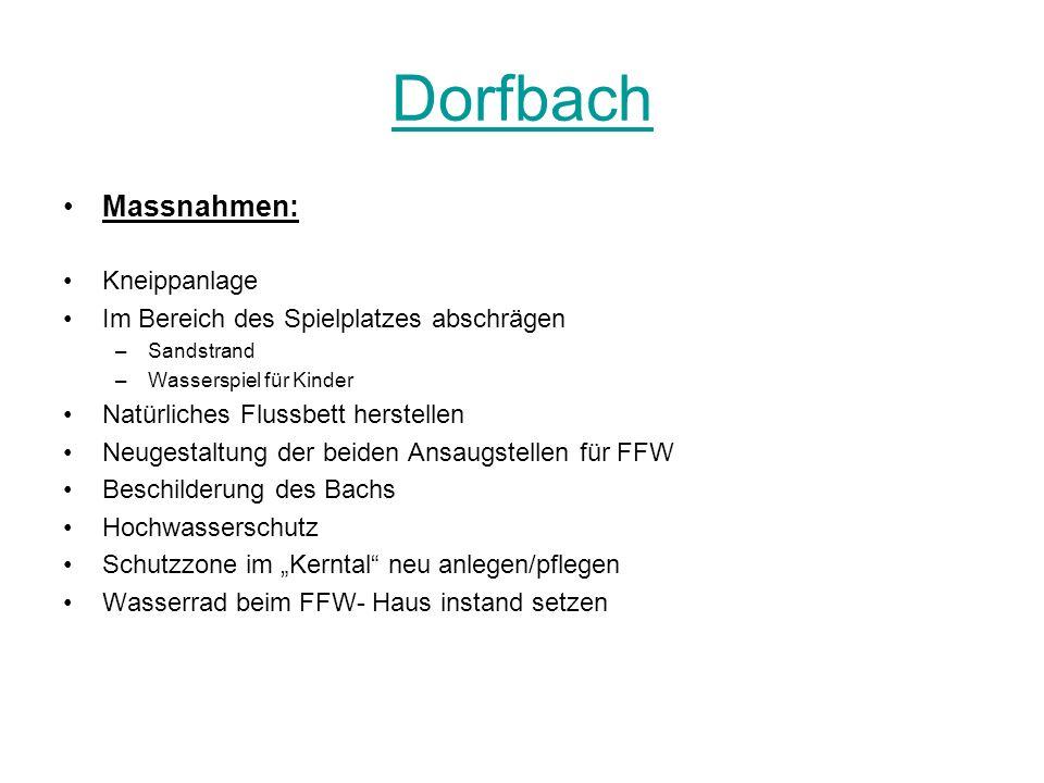 Dorfbach Massnahmen: Kneippanlage