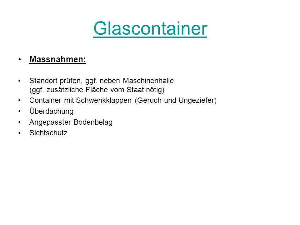 Glascontainer Massnahmen: