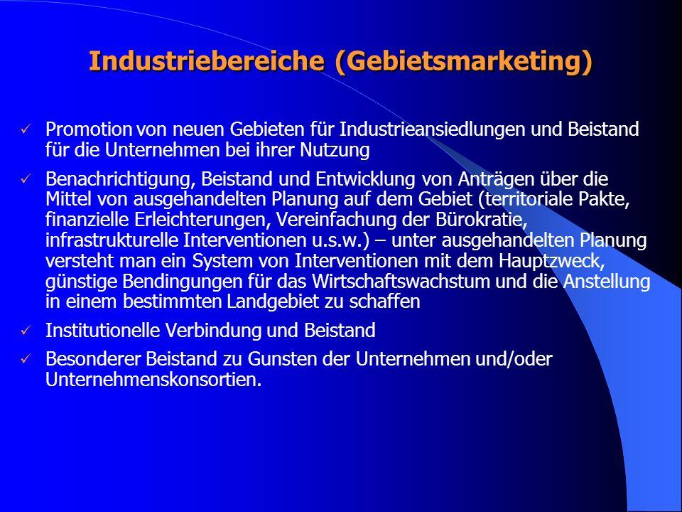 Industriebereiche (Gebietsmarketing)