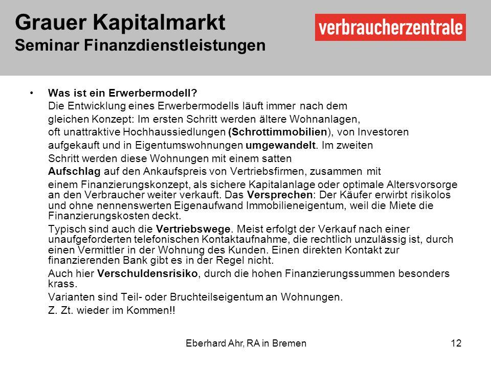 Eberhard Ahr, RA in Bremen