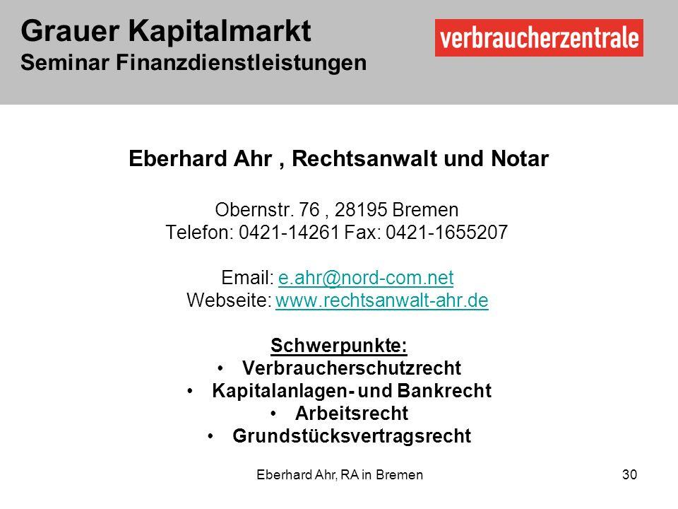 Eberhard Ahr , Rechtsanwalt und Notar