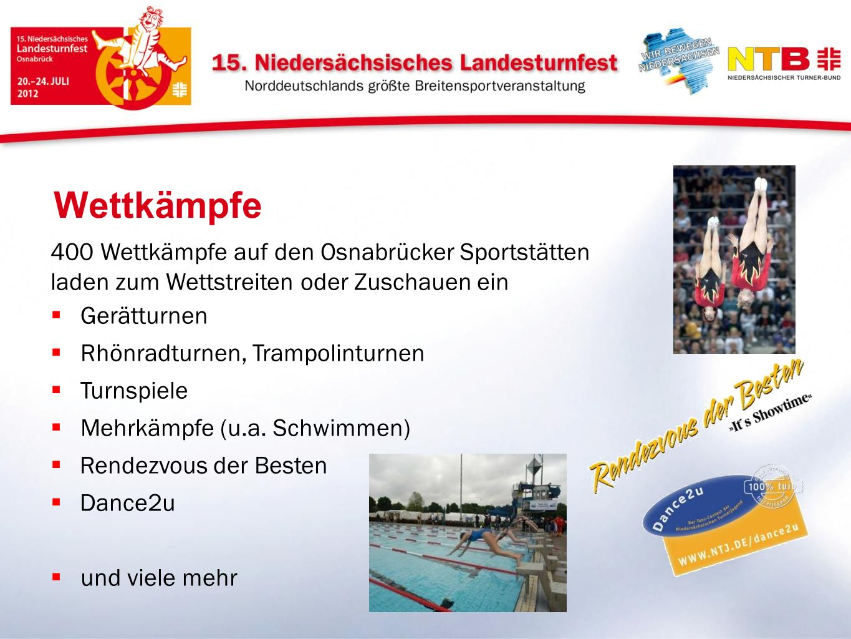 Wettkämpfe 400 Wettkämpfe auf den Osnabrücker Sportstätten laden zum Wettstreiten oder Zuschauen ein.