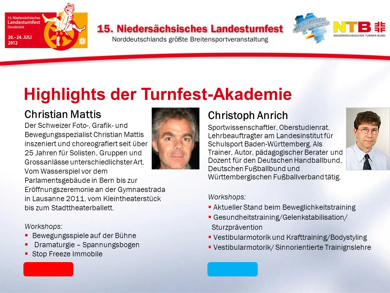 Highlights der Turnfest-Akademie