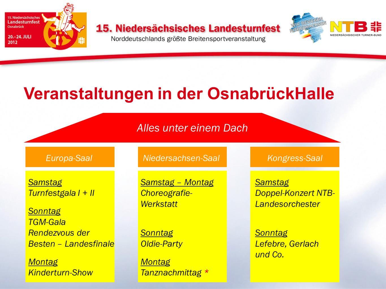 Veranstaltungen in der OsnabrückHalle