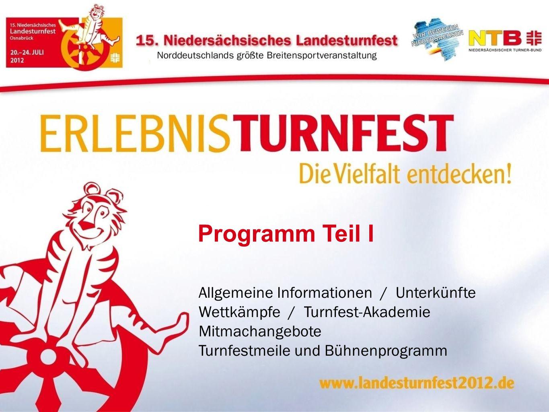 Programm Teil I Allgemeine Informationen / Unterkünfte