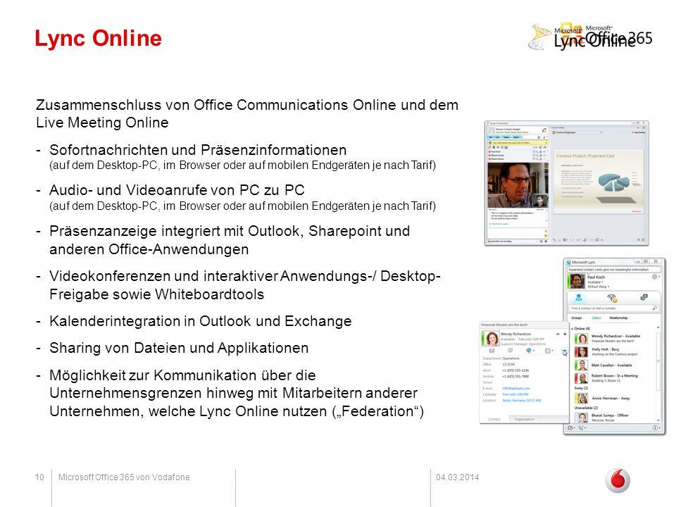 Lync Online Zusammenschluss von Office Communications Online und dem