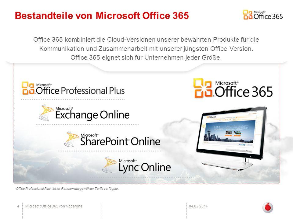 Office 365 eignet sich für Unternehmen jeder Größe.