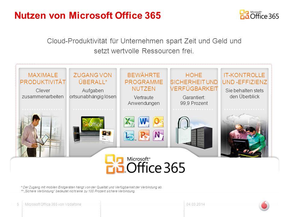 Nutzen von Microsoft Office 365