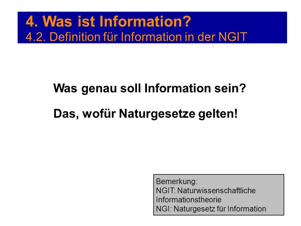 4. Was ist Information 4.2. Definition für Information in der NGIT