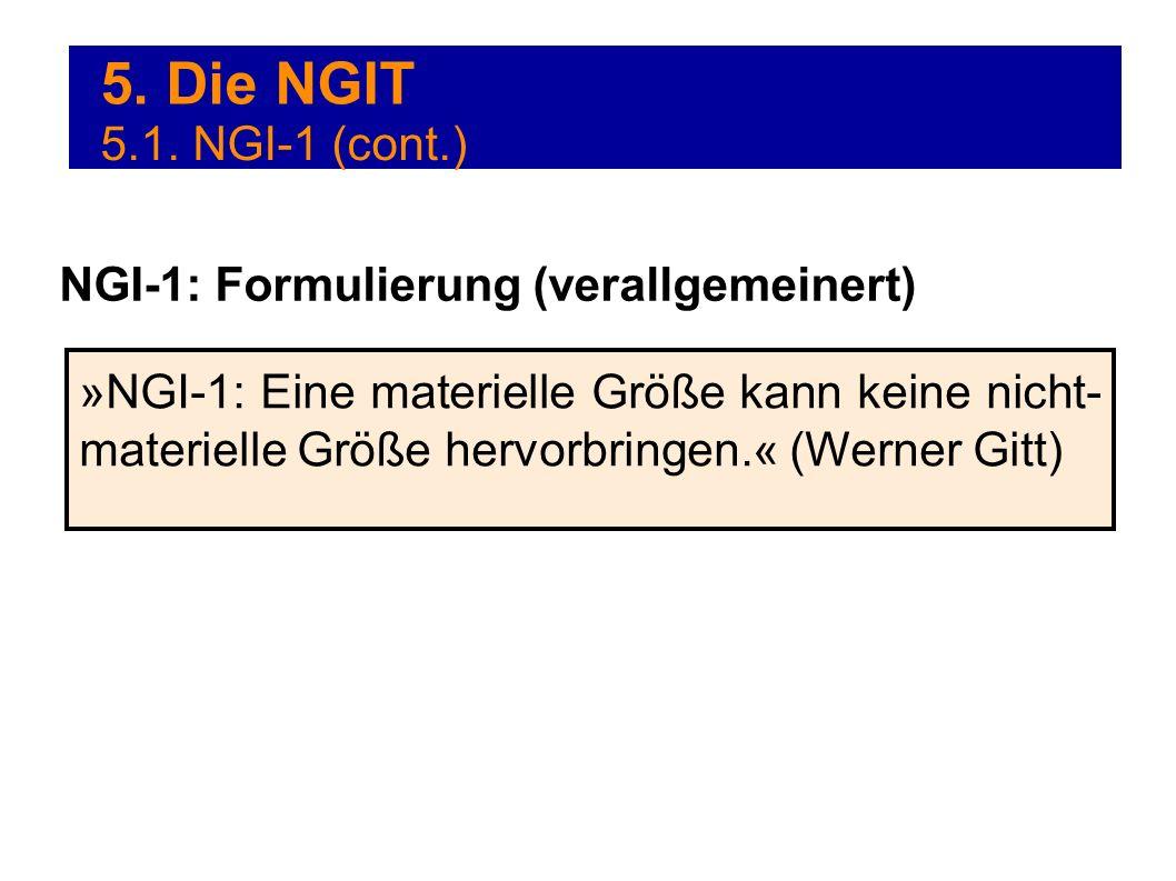 5. Die NGIT 5.1. NGI-1 (cont.) NGI-1: Formulierung (verallgemeinert)