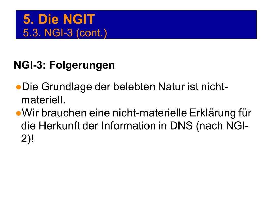 5. Die NGIT 5.3. NGI-3 (cont.) NGI-3: Folgerungen