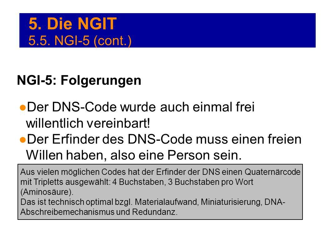 5. Die NGIT 5.5. NGI-5 (cont.) NGI-5: Folgerungen