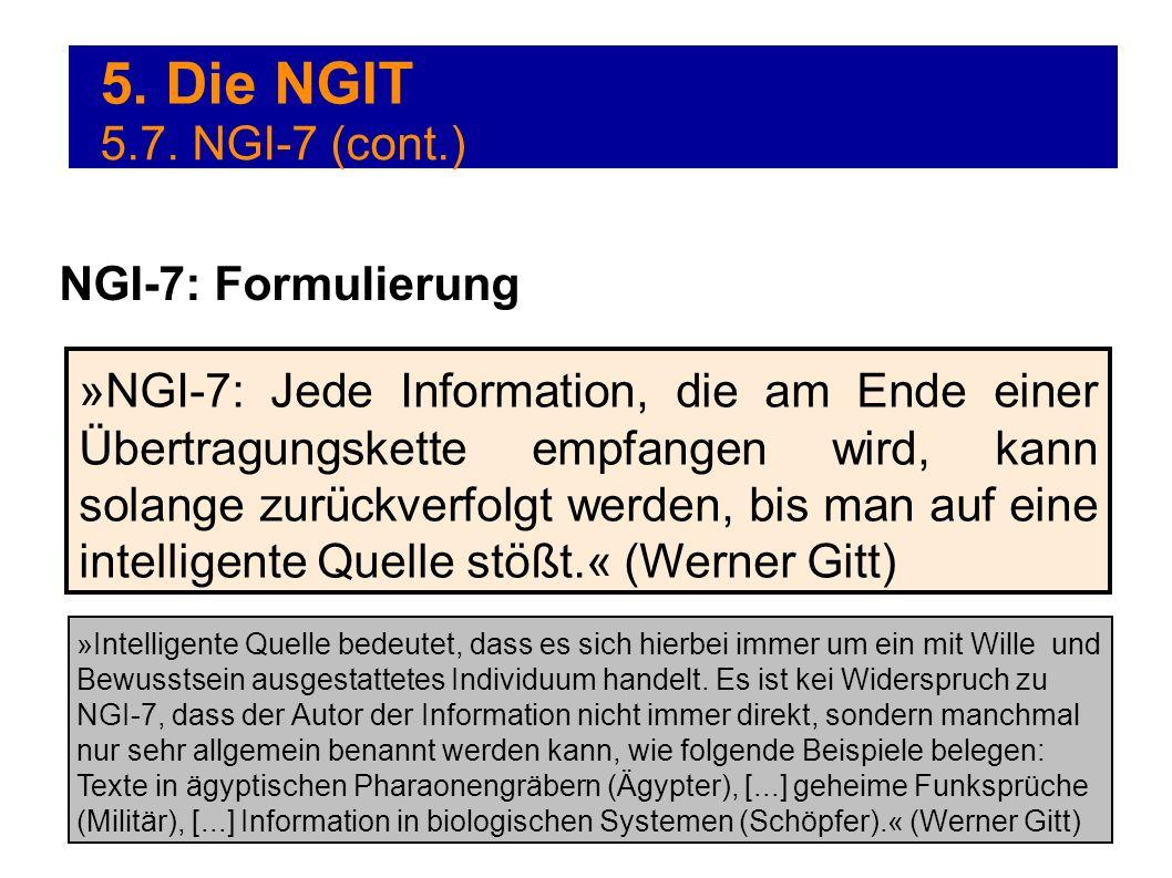 5. Die NGIT 5.7. NGI-7 (cont.) NGI-7: Formulierung