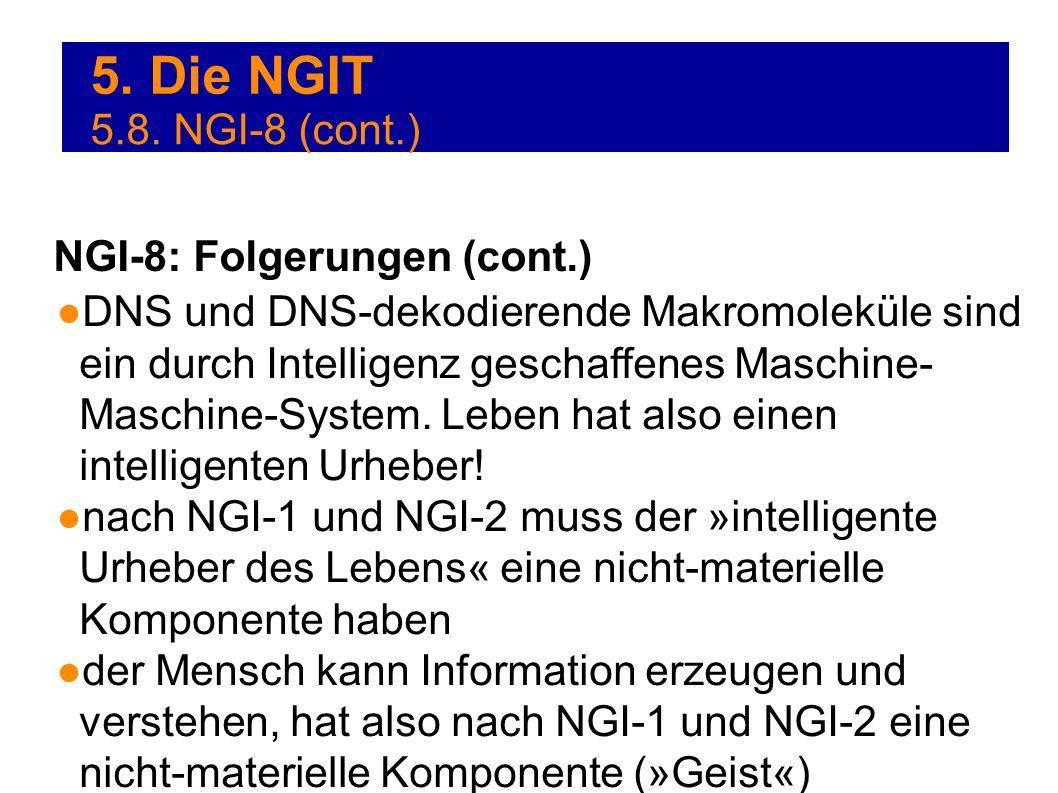 5. Die NGIT 5.8. NGI-8 (cont.) NGI-8: Folgerungen (cont.)