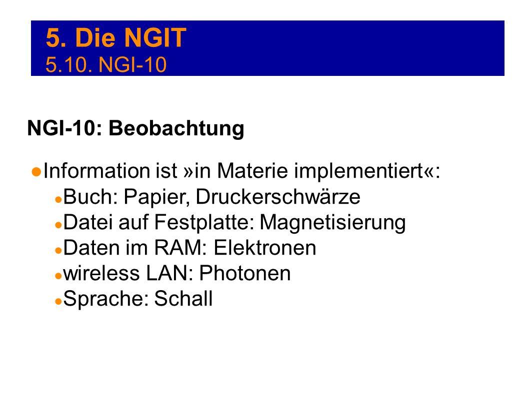 5. Die NGIT 5.10. NGI-10 NGI-10: Beobachtung