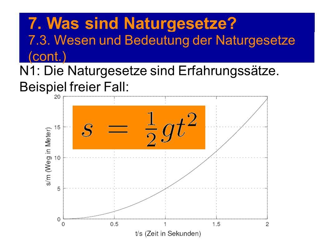 7. Was sind Naturgesetze. 7.3.