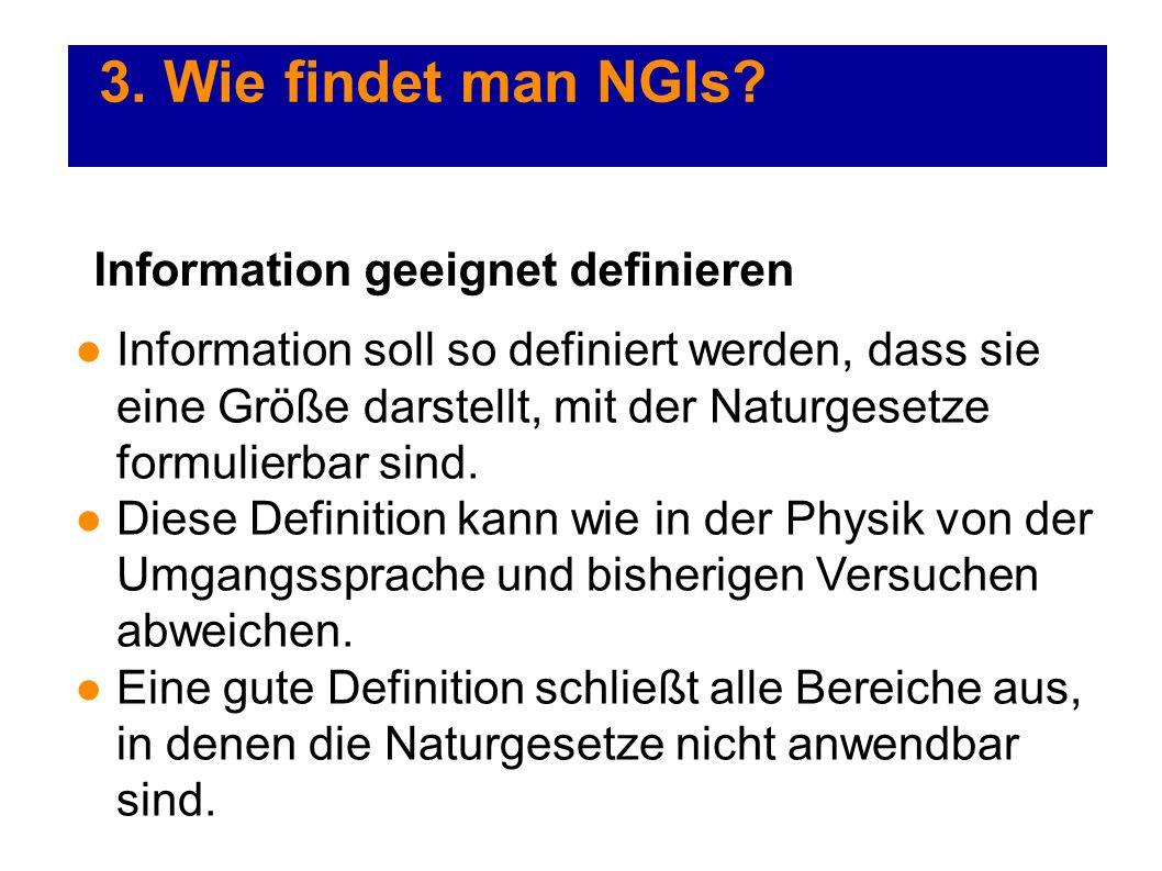 3. Wie findet man NGIs Information geeignet definieren
